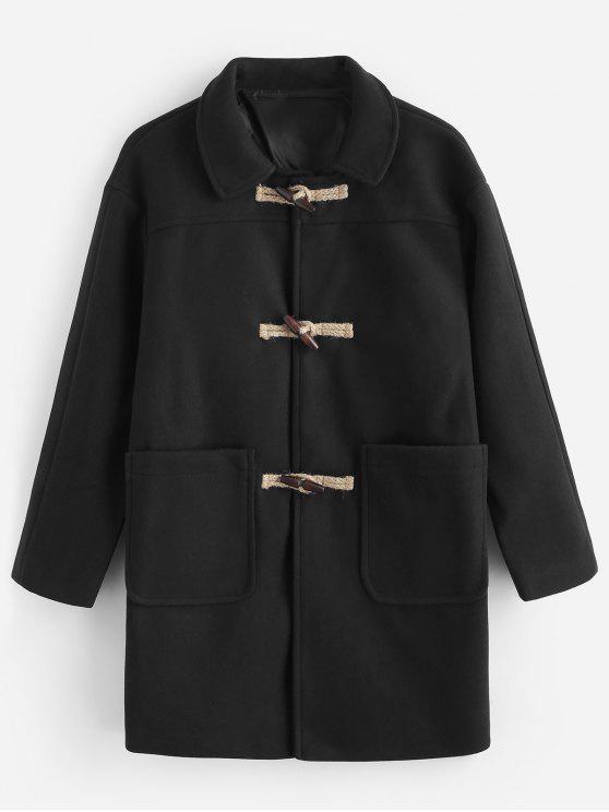 fashion Toggles Classic Duffle Coat - BLACK L
