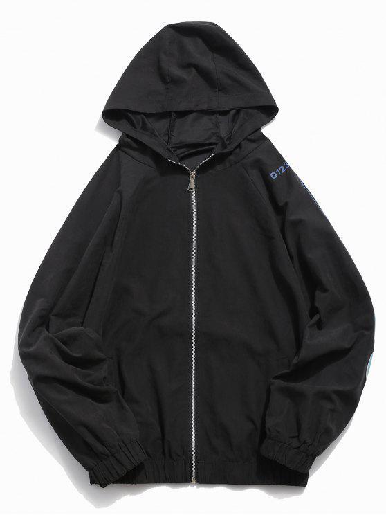 Hem elastische Jacke - Schwarz M
