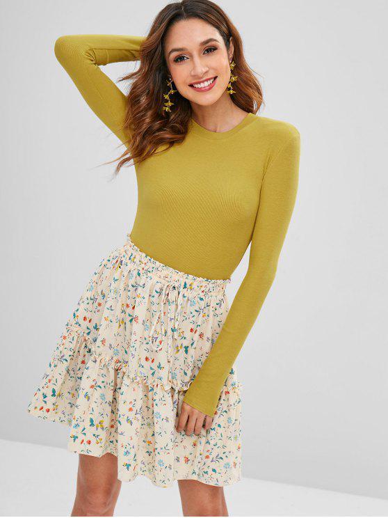 outfit Snap Button Plain Bodysuit - GOLDENROD S