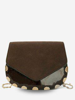 Flap Chic Chain Crossbody Bag - Coffee
