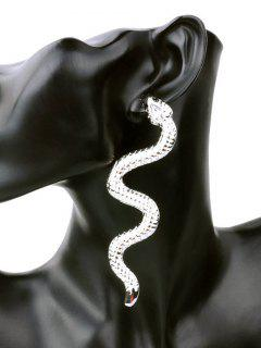 Unique Alloy Snake Punk Earrings - Silver