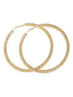 Punk Oversized Alloy Round Earrings - Gold