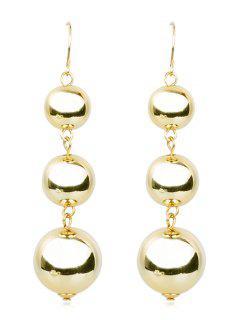 Balls Dangle Metal Drop Earrings - Gold