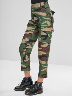 Camouflage Straight Pants - Woodland Camouflage L