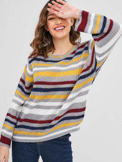 Suéter Flojo Multicolor A Rayas - Multicolor
