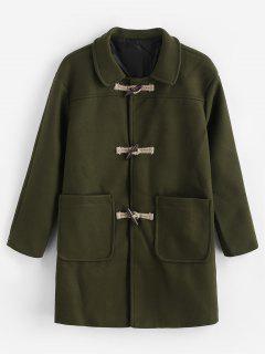 Manteau Classique Bouclé  - Vert Armée 2xl