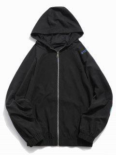 Hem Elastic Graphic Jacket - Black M