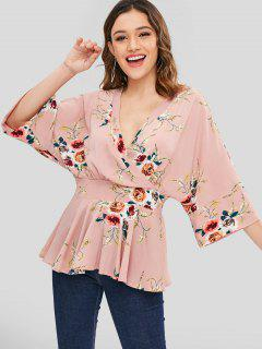Chemisier Robe Floral Superposé - Multi L