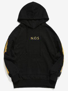 Printed Front Pocket Hooded Sweatshirt - Gold S