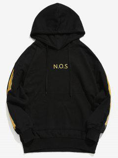 Printed Front Pocket Hooded Sweatshirt - Gold M