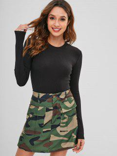 Snap Button Plain Bodysuit - Black M