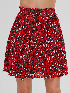 Frilled Leopard A Line Skirt - Multi M