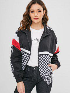 Wind Proof Checkered Training Jacket - Multi L