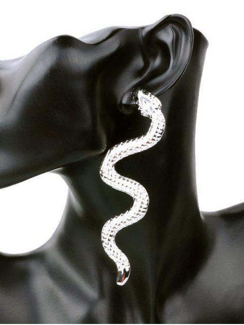 Pendientes únicos de aleación de punk serpiente - Plata  Mobile