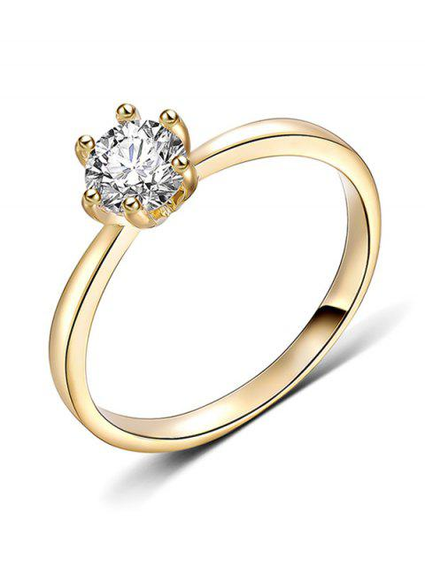 online Artificial Diamond Inlaid Decorative Metal Finger Ring - GOLD M Mobile