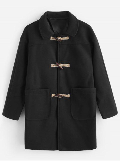 fashion Toggles Classic Duffle Coat - BLACK L Mobile