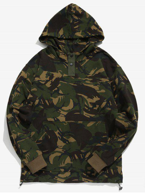 Sweat à Capuche Camouflage Embelli de Bouton - ACU Camouflage XL Mobile