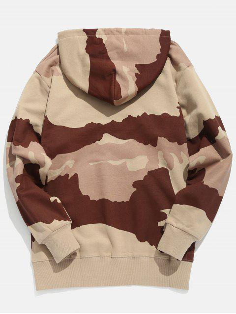 affordable Letter Print Camouflage Hoodie - PUCE XL Mobile
