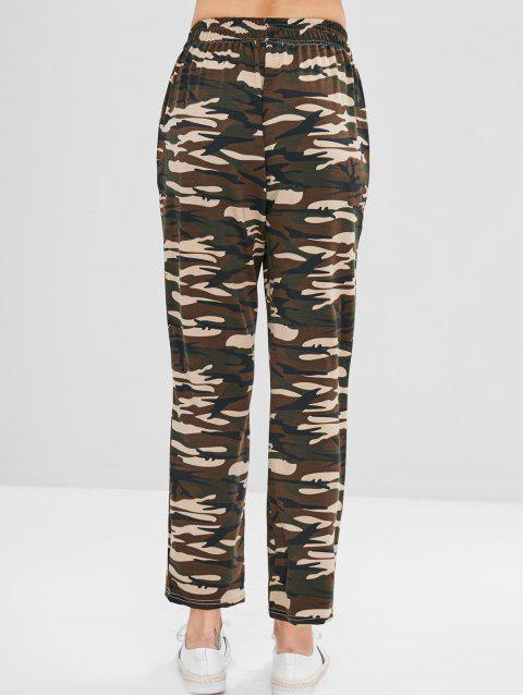 Pantalones de pierna ancha con estampado de camuflaje de ZAFUL - ACU Camuflaje S Mobile
