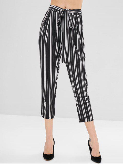 ZAFUL Pantalon Fuselé Rayé à Taille Haute - Multi L Mobile