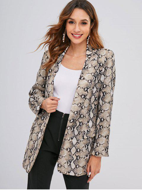 outfit Open Front Snake Print Blazer - MULTI M Mobile