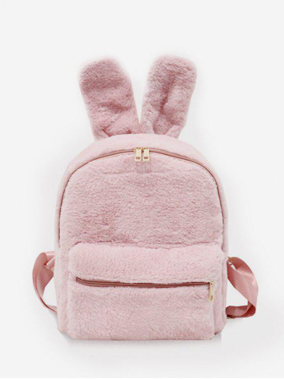 hot Faux Fur Rabbit Ear Shape Backpack - PINK