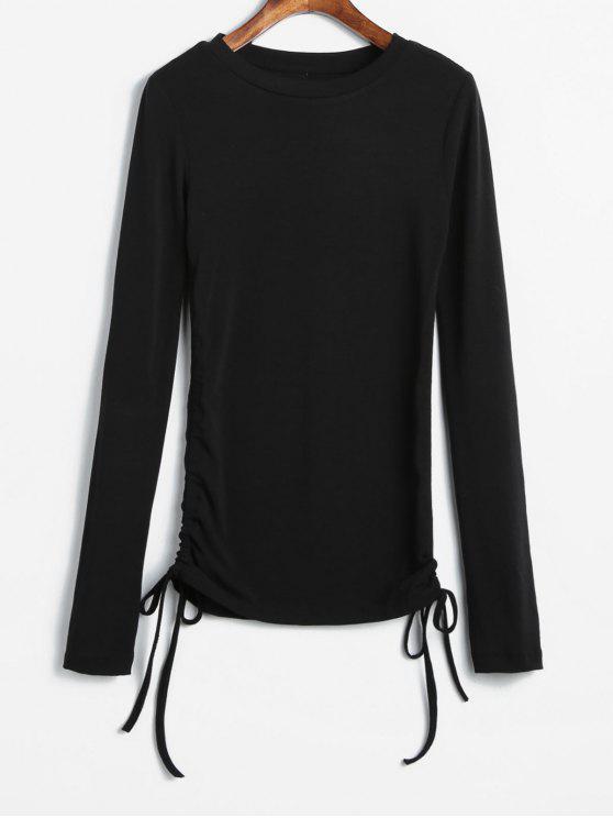 best Long Sleeve Cinched Tee - BLACK M
