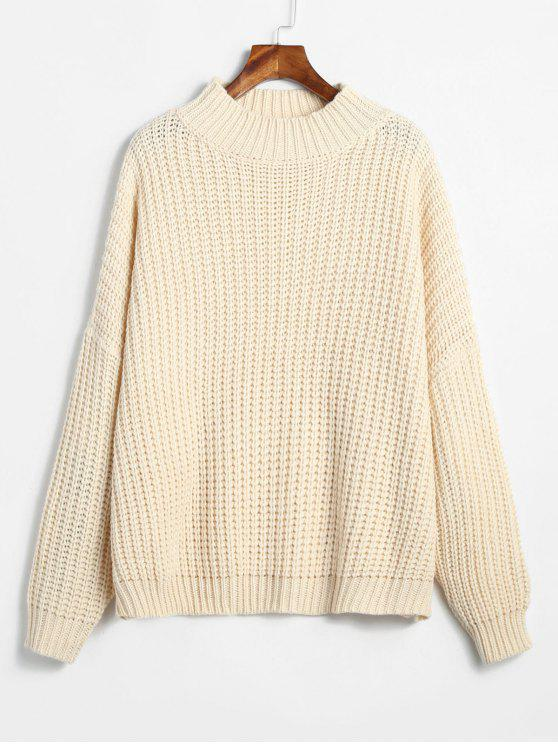 chic ZAFUL Chunky Oversized Sweater - WARM WHITE