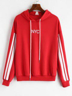 ZAFUL Drop Shoulder Terry Hoodie - Lava Red M