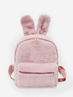 Kunstpelz Kaninchen Ohr Form Rucksack - Rosa