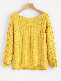 Pullover Mit Rundhalsausschnitt - Gelb
