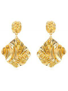 Overstatement Irregular Geometric Drop Earrings - Gold