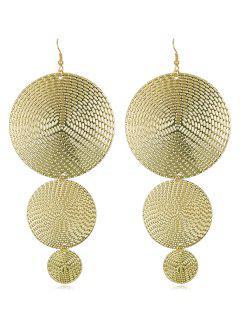 Boho Alloy Round Hook Earrings - Gold