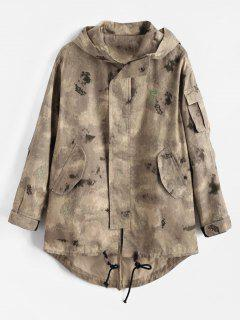 Embroidered Letter Camo Jacket - Acu Camouflage M