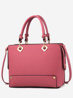 Rivet Design Tote Bag - Light Pink