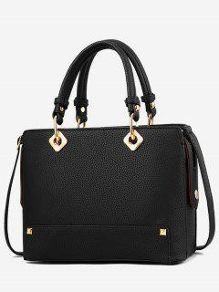 Rivet Design Tote Bag - Black