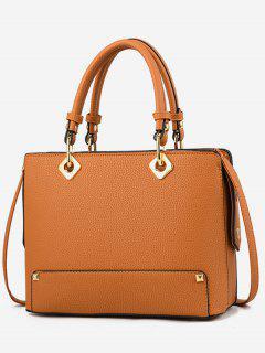 Rivet Design Tote Bag - Sandy Brown