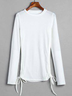Camiseta Ceñida De Manga Larga - Blanco S