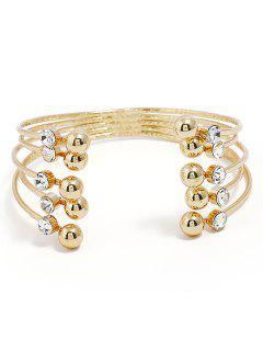 Brazalete De Diamantes De Imitación De Múltiples Capas - Oro
