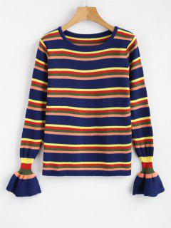 Bell Cuffs Striped Sweater - Multi