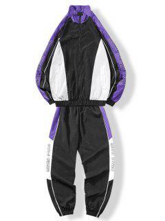 Costume Coupe-vent Pantalon De Survêtement - Pourpre  Xl