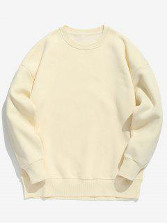 Candy Color Fleece Sweatshirt - Apricot M