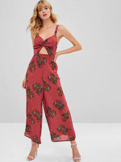 ZAFUL Twist Floral Cut Out Mono - Multicolor M
