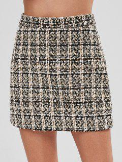 Jupe Courte Taille Haute En Tweed - Multi-a M