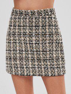 Jupe Courte à Taille Haute En Tweed - Multi-a L