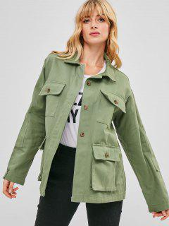 Denim Safari Jacket - Hazel Green S