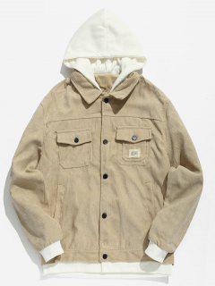 Vintage Patchwork Corduroy Jacket - Light Khaki S