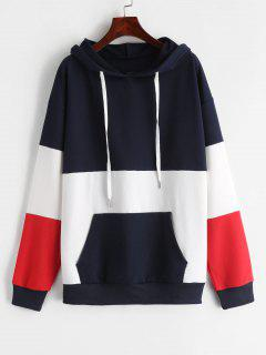 ZAFUL Drop Shoulder Pouch Pullover Hoodie - Multi