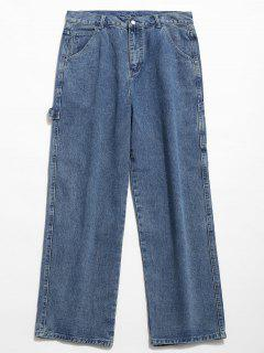 Casual Straight Leg Jeans - Denim Blue 2xl
