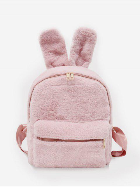 Kunstpelz Kaninchen Ohr Form Rucksack - Rosa  Mobile